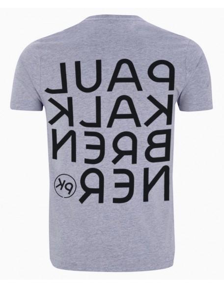 Mirror shirt grey men
